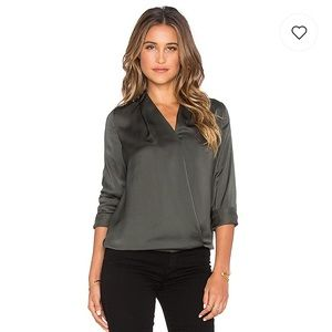 Maison Scotch Crossover Front Blouse -Hunter Green